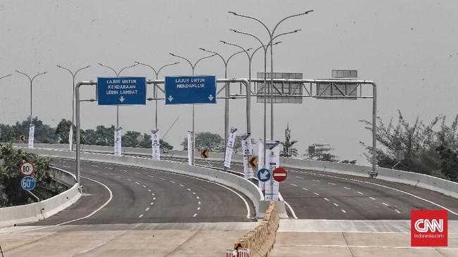 Tol ini rencananya terkoneksi dengan Tol Bogor Ring Road hingga Ciawi. (CNN Indonesia/Andry Novelino)