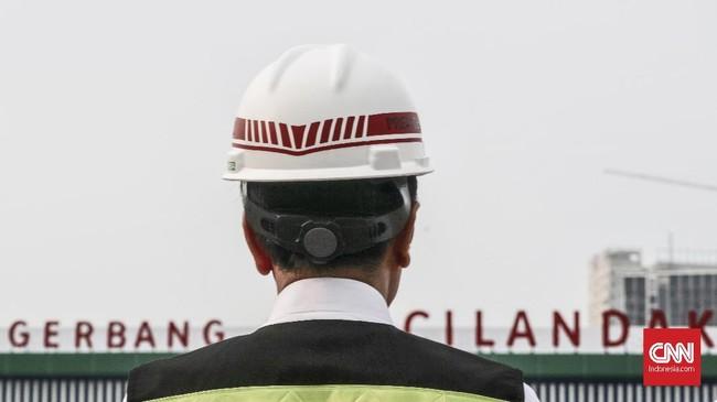 Presiden Jokowi menargetkan pembangunan tol secara keseluruhan rampung pada 2019 mendatang. (CNN Indonesia/Andry Novelino)