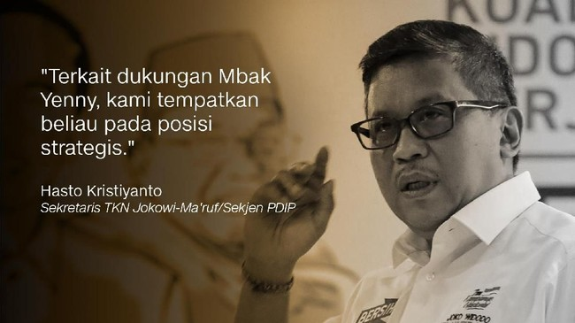 Hasto Kristiyanto, Sekretaris TKN Jokowi-Ma'ruf/Sekjen PDIP.