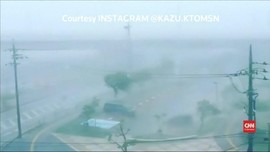 VIDEO: Topan Trami Hantam Jepang