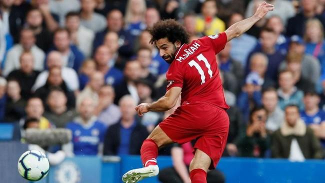 Mohamed Salah menjalani musim yang gagal bersama Chelsea pada 2014-2015. Salah sempat tampil bagus di AS Roma sebelum direkrut Liverpool di musim panas 2017/2018. Di musim pertamanya bersama The Reds Salah mencetak 44 gol di semua kompetisi.(REUTERS/David Klein)