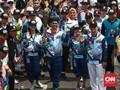 FOTO: Pawai Obor Asian Para Games 2018 Tiba di Jakarta