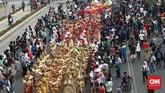 Obor sebelumnya telah menyambangi tujuh kota yaitu Solo di Jawa Tengah, Denpasar (Bali), Ternate (Maluku Utara), Makassar (Sulawesi Selatan), Pontianak (Kalimantan Barat), Medan (Sumatra Utara), Pangkal Pinang (Kepulauan Bangka Belitung). (CNN Indonesia/Andry Novelino)