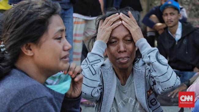Menurut saksi mata, sebelum terjadi likuifaksi, ada semburan air yang sangat tinggi muncul di Balaroa setelah terjadinya gempa 7,4 SR. (CNN Indonesia/Adhi Wicaksono)