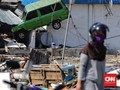 FOTO : Luluh Lantak Pesisir Pantai Talise Disapu Tsunami