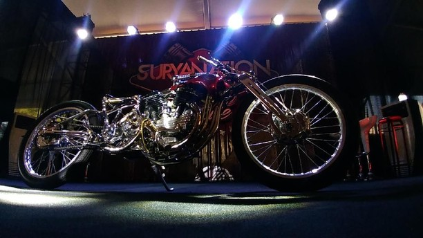 Harley-Davidson WL 1947 Ini Bergaya Boardtracker
