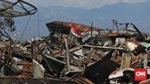 Perumnas Balaroa di Kecamatan Palu Barat, Kota Palu, Sulawesi Tengah, amblas pasca-rangkaian gempa yang terjadi Jumat (28/9) petang. (CNN Indonesia/Adhi Wicaksono)