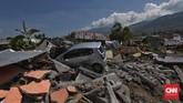 Dewan penasehat Ikatan Ahli Geologi Indonesia Rovicky Dwi Putrohari menjelaskan likuifaksi terjadi karena adanya getaran gempa, bukan karena tsunami.(CNN Indonesia/Adhi Wicaksono)