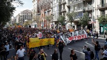 Aktivis Tutup Jalan Protes Sidang Tokoh Separatis Catalonia