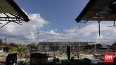 Tembok kamar blok 2 Lapas Kelas II A Palu yang rubuh pascaguncangan gempa 28 September 2018. (CNN Indonesia/Adhi Wicaksono)