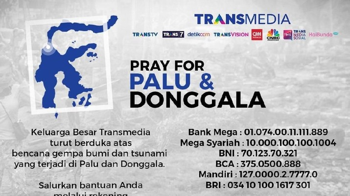 Salurkan Bantuan Bagi Palu Melalui Dompet Amal Transmedia