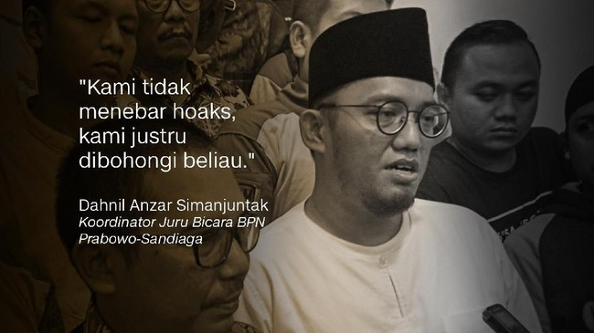 Dahnil Anzar Simanjuntak, Koordinator Juru Bicara BPN Prabowo-Sandiaga.