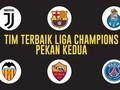 INFOGRAFIS: 11 Pemain Terbaik Pekan Kedua Liga Champions