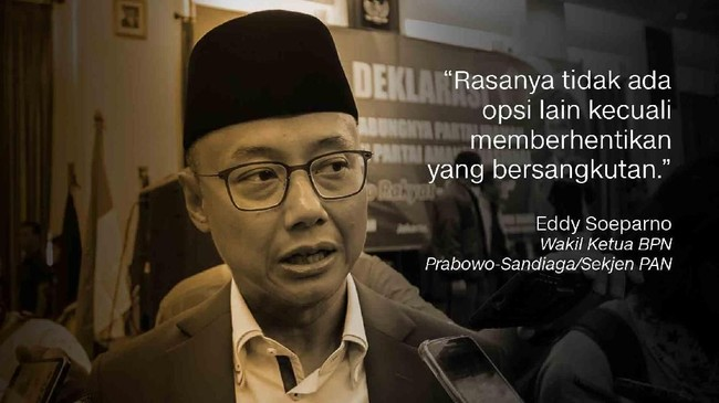 Eddy Soeparno, Wakil Ketua BPN Prabowo-Sandiaga/Sekjen PAN.