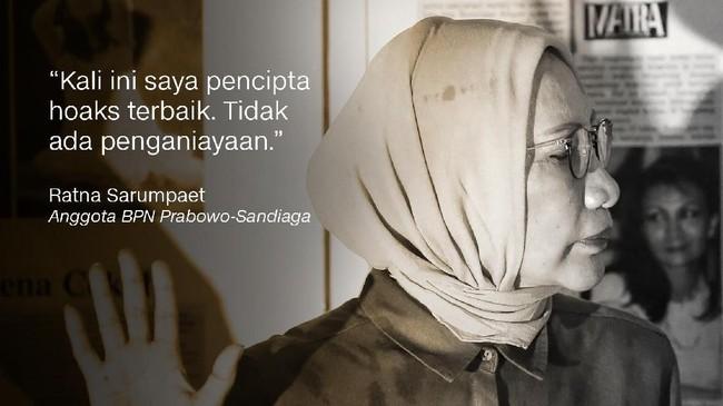 Ratna Sarumpaet, Anggota BPN Prabowo-Sandiaga.