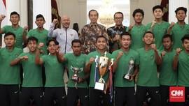 Jokowi Minta Timnas Indonesia U-16 Tak Ubah Gaya Hidup