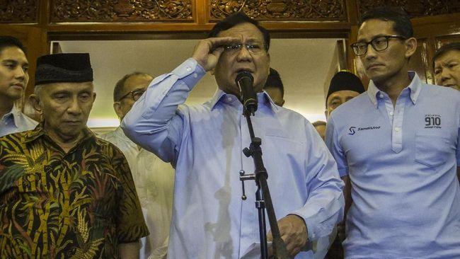 Tim Prabowo-Sandi Tunggu Sumbangan Swadaya Rakyat