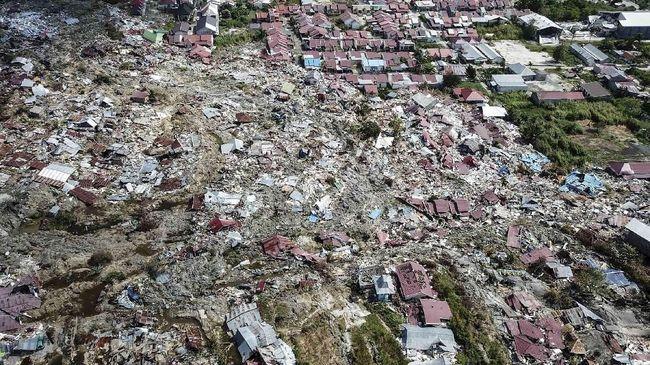 BNPB Sebut 180 Hektare Wilayah Petobo Amblas Pascagempa