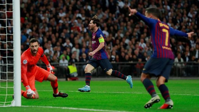 Messi Gemilang, Barcelona Pecundangi Tottenham 4-2