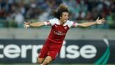 Matteo Guendouzi mencetak gol ketiga Arsenal pada menit ke-80 memanfaatkan assist Alexandre Lacazette. (REUTERS/David Mdzinarishvili)