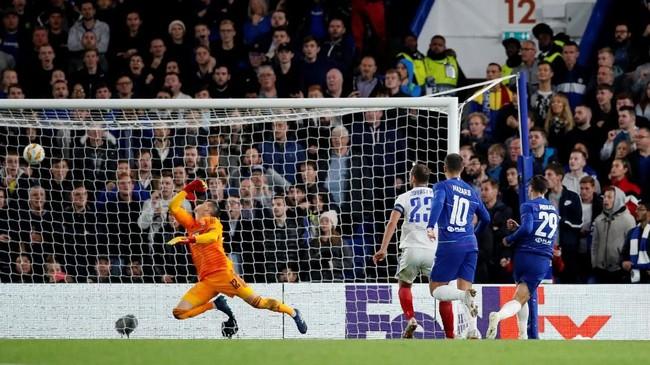 Chelsea berhasil mengalahkan Videoton FC dengan skor 1-0 dalam laga Liga Europa. (REUTERS/Daniele Mascolo)