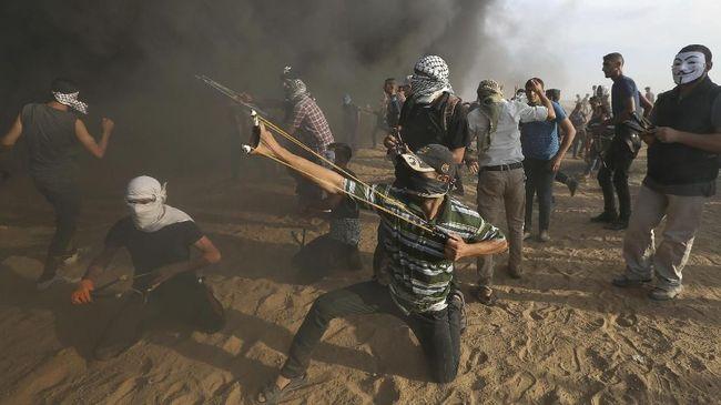 Lempar Batu, Warga Palestina Ditembak Militer Israel