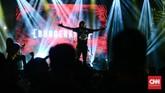Burgerkill merupakan salah satu band beraliran metal yang tampil di Synchronize Festival 2018. (CNN Indonesia/M Andika Putra)