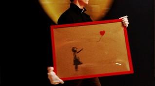 Karya Baru Banksy 'Berlayar' sampai Venesia