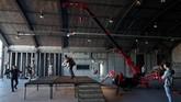 Jet Suit ini memungkinkan penggunanya untuk 'terbang'. (REUTERS/Chris Radburn)