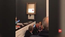 VIDEO: Laku Puluhan Miliar, Lukisan Banksy Dihancurkan