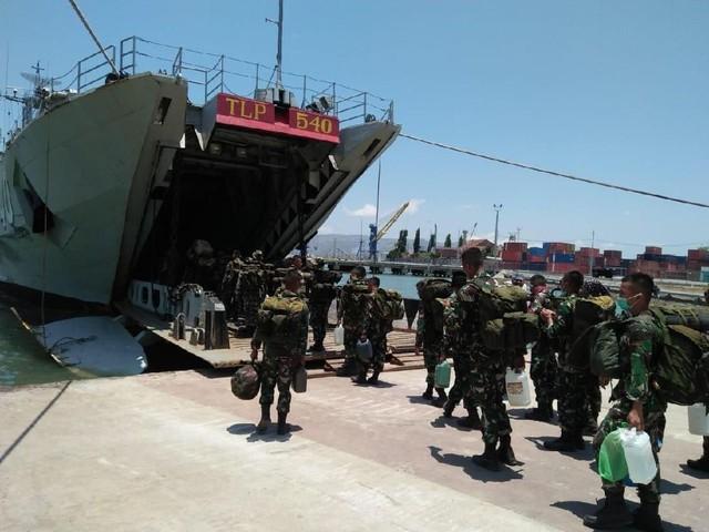 220 Prajurit TNI di Lombok Bergeser ke Palu dan Donggala