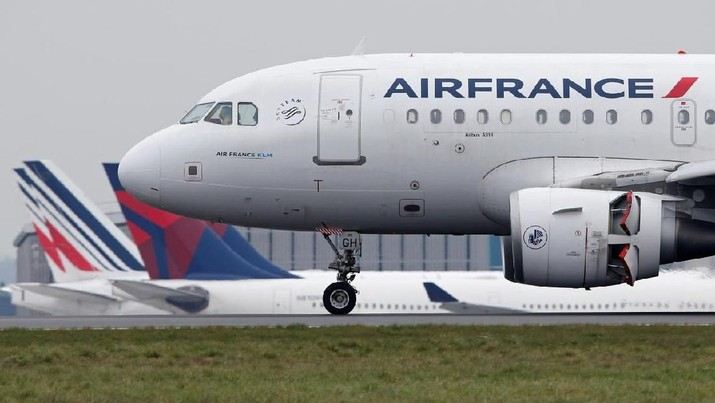 An Air France Airbus A318 airplane lands at the Charles-de-Gaulle airport in Roissy, near Paris, France, March 23, 2018. REUTERS/Pascal Rossignol