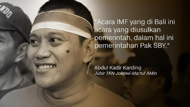 Abdul Kadir Karding, Jubir TKN Jokowi-Ma'ruf Amin/Politikus PKB.