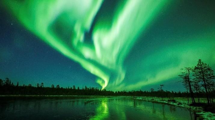 Menakjubkan, Indahnya Penampakan Aurora Borealis di Finlandia