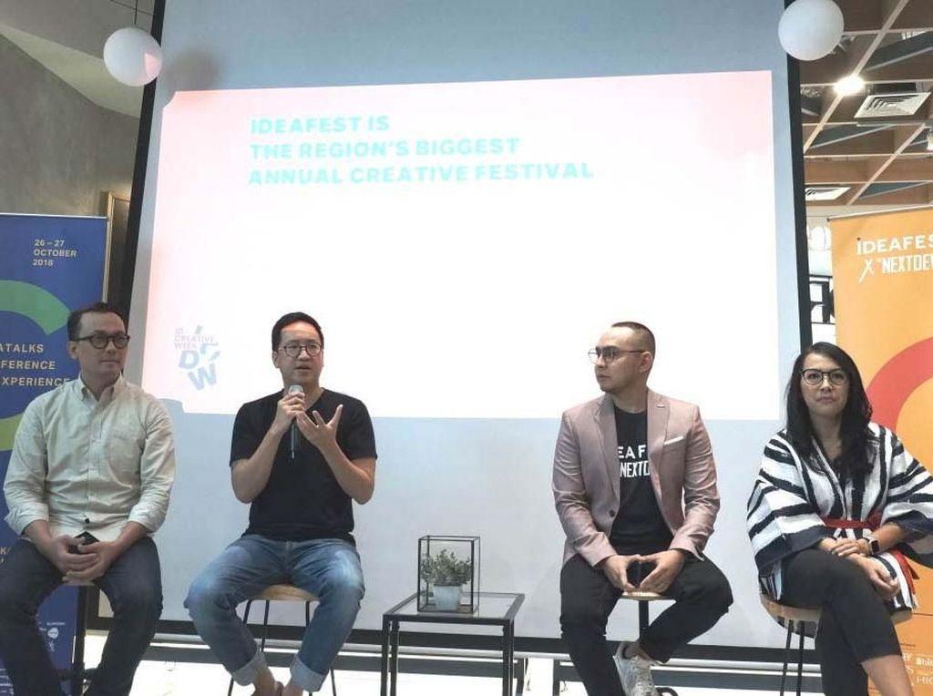 Pemilihan C sebagai tema utama IdeaFest 2018 didorong dengan munculnya #GenerasiC yang memiliki pola pikir dan perilaku berbeda dari generasi lainnya, tetapi berperan penting dalam membesarkan industri kreatif di Indonesia. Pool/IdeaFest.