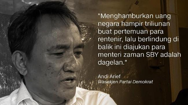 Andi Arief,Wakil Sekjen Partai Demokrat.