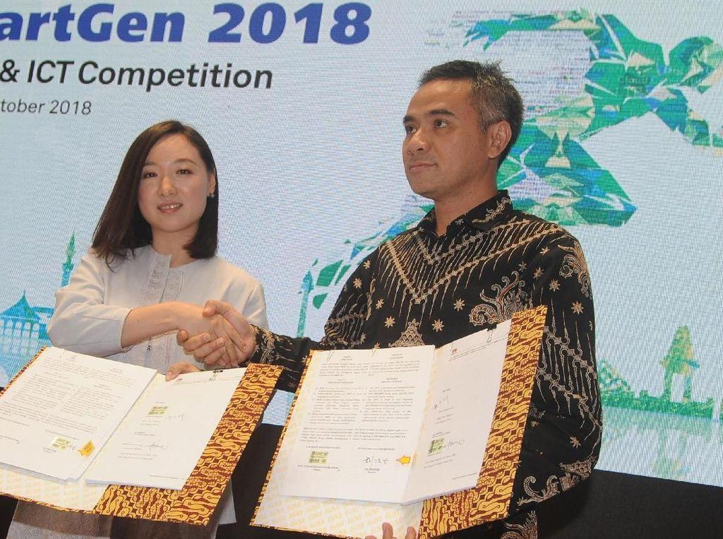 Huawei Indonesia bekerja sama dengan ITB, UNDIP, UNPAD, UI, UGM, ITS, UMN, dan Telkom University menggelar program SmartGen 2018 untuk membekali sumber daya TIK dengan kompetensi global. Foto: dok. Huawei