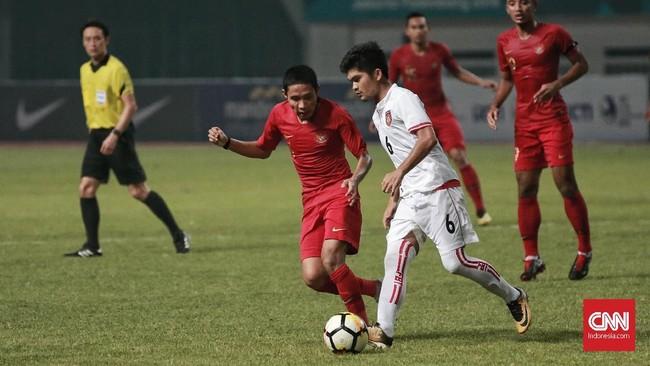 Setelah menang lawan Myanmar, Timnas Indonesia akan menghadapi Hong Kong pada 16 Oktober. (CNN Indonesia/Andry Novelino)