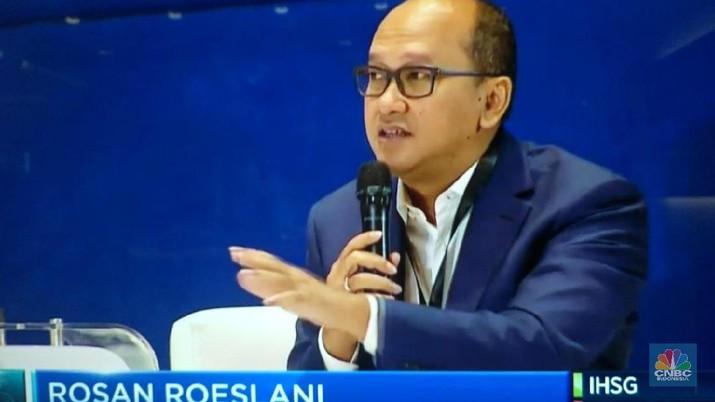 Ketua Umum Kamar Dagang dan Industri Indonesia (Kadin) Rosan Roeslani di Grand Launching CNBC Indonesia TV (CNBC Indonesia)