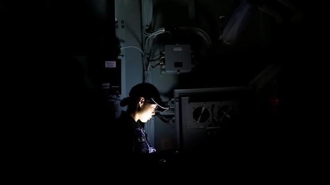 Jepang juga memiliki 40 kapal perang penghancur dan empat kapal yang bisa digunakan untuk mendaratkan helikopter seperti Kaga.(REUTERS/Kim Kyung-Hoon)