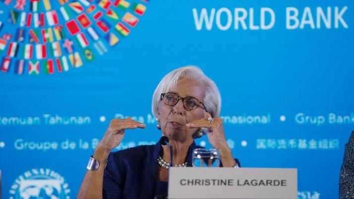 Direktur Pelaksana Dana Moneter Internasional (IMF) Christine Lagarde menunda perjalanannya ke Timur Tengah.