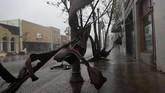 Badai Michael membawa angin berkecepatan 250 kilometer perjam serta hujan lebat yang menerjang wilayah dikawasanFlorida Panhandle (Joe Raedle/Getty Images/AFP)