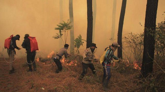 BNPB Sebut Satu Titik Api di Gunung Ciremai Belum Padam