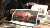 Diperkirakan sebanyak 286 ribu pengunjung akan datang di Frankfurt Book Fair yang memiliki lebih dari 4.000 acara hingga 14 Oktober mendatang. (Daniel ROLAND / AFP)