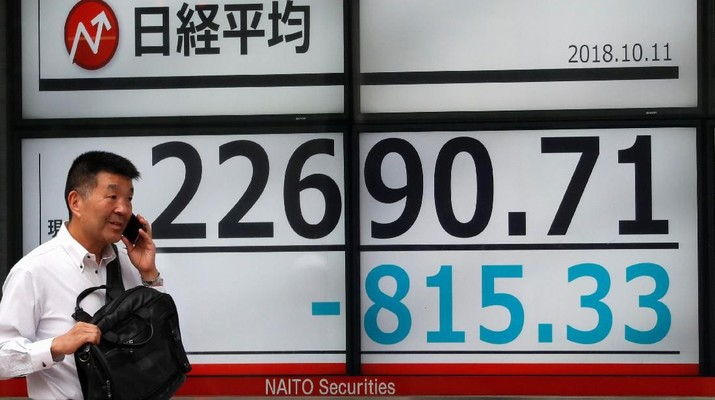 Tak Kuat Tahan Sentimen Negatif, Bursa Tokyo Terkoreksi 2,12%