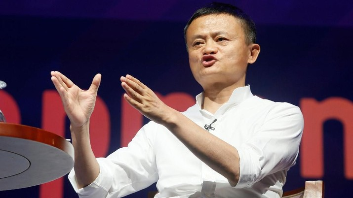 Alibaba Group co-founder and Executive Chairman Jack Ma gestures during a seminar at the International Monetary Fund - World Bank Annual Meeting 2018 in Nusa Dua, Bali, Indonesia, October 12, 2018. REUTERS/Johannes P. Christo