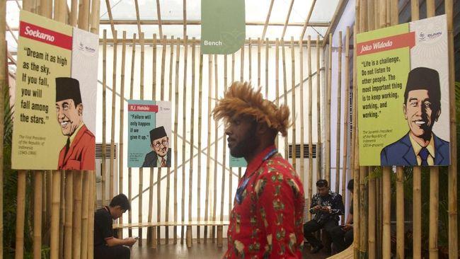 Pojok 'Suara' Presiden-presiden RI di Indonesia Pavilion