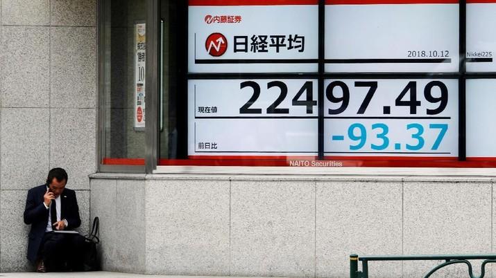 Penguatan Yen & Merahnya Wall Street Seret Turun Bursa Jepang