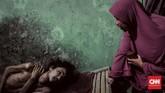 Selepaskepergian sang ibu, kondisi Asep kian tak terurus. Praktis hanya Pepen Supenti (46), kakak kandung Asep yang ada. Mengurus keluarga sekaligus menjaga Asep tentu bukan urusan yang mudah.