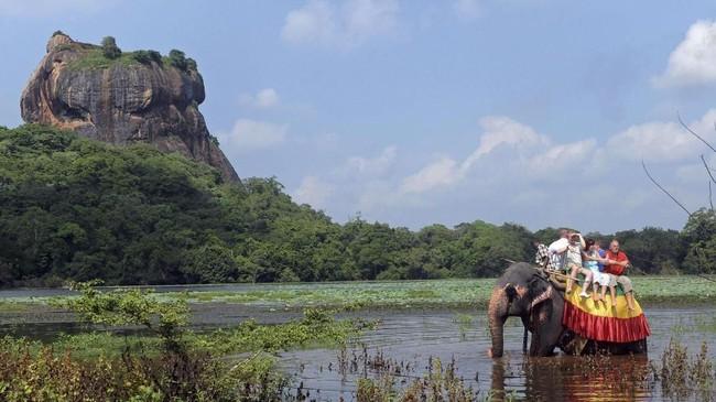 Area di sekitar batu karang masih cukup terjaga, terutama area pertamanannya. Sigiriya dinobatkan sebagai warisan budaya dunia oleh UNESCO mengingat peran pentingnya sebagai tonggak perkembangan awal sistem perencanaan kota dari masa lalu. (AFP PHOTO/ Ishara S.KODIKARA)